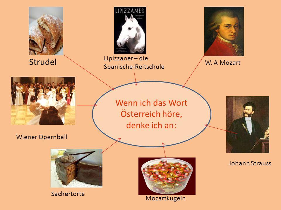 Wenn ich das Wort Österreich höre, denke ich an: