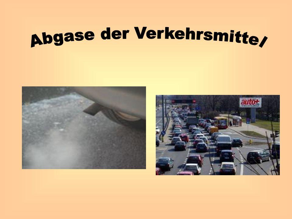 Abgase der Verkehrsmittel