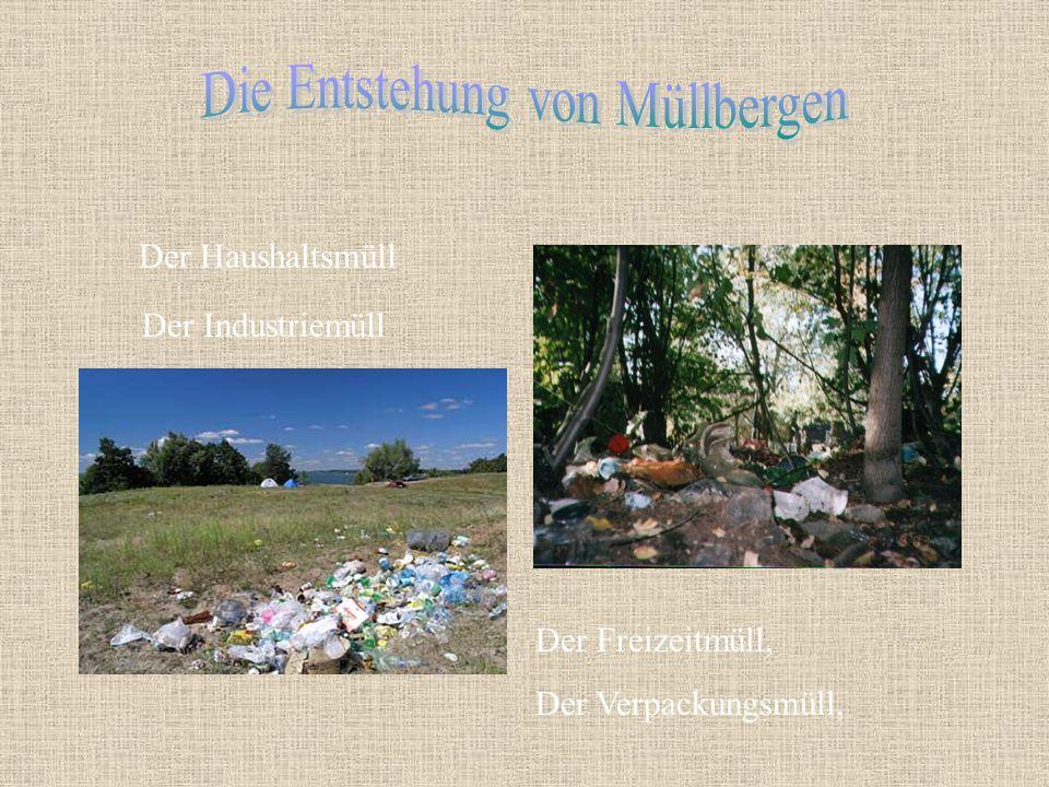 Die Entstehung von Müllbergen