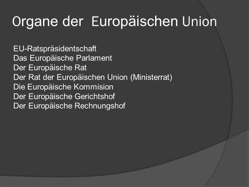 Organe der Europäischen Union