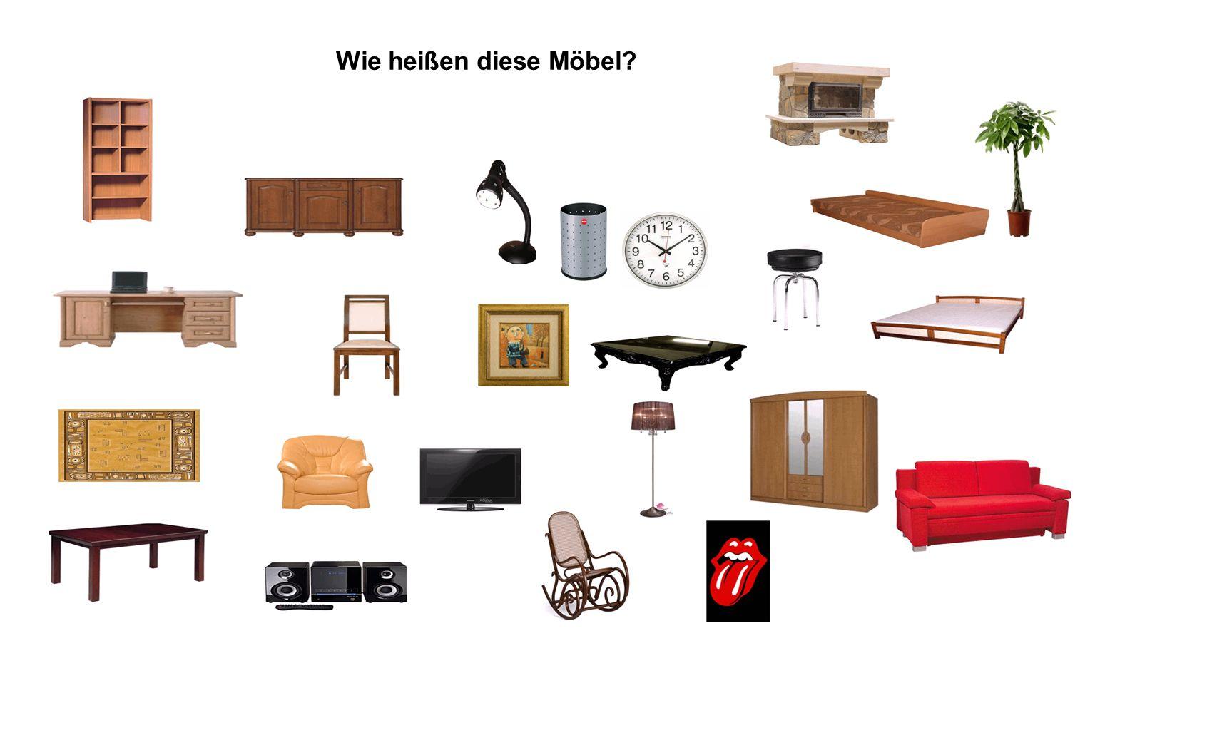 Wie heißen diese Möbel