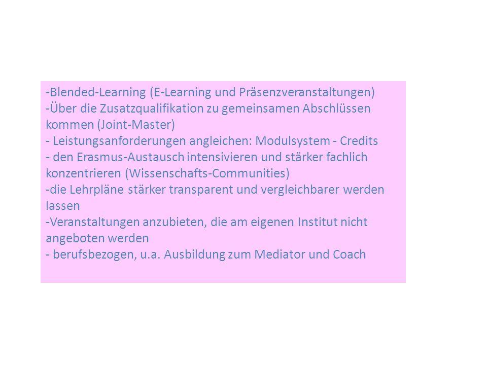Blended-Learning (E-Learning und Präsenzveranstaltungen)