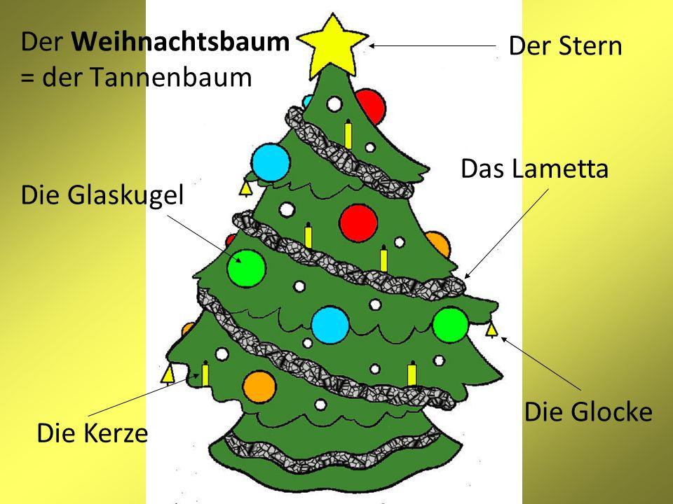 Der Weihnachtsbaum = der Tannenbaum