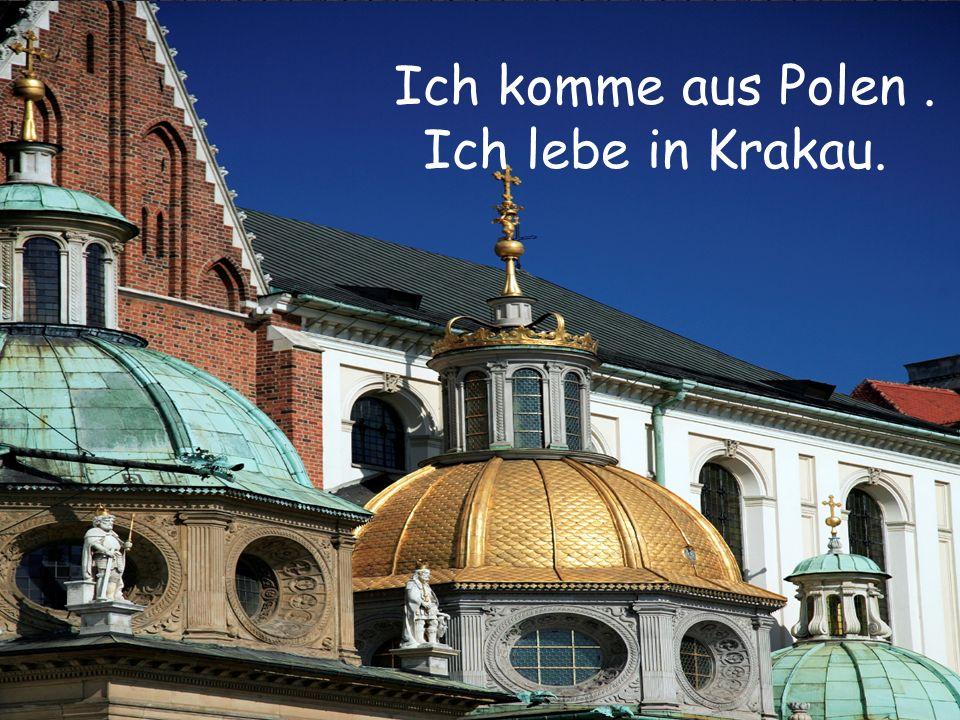 Ich komme aus Polen . Ich lebe in Krakau.