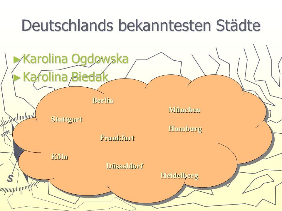 Deutschlands bekanntesten Städte