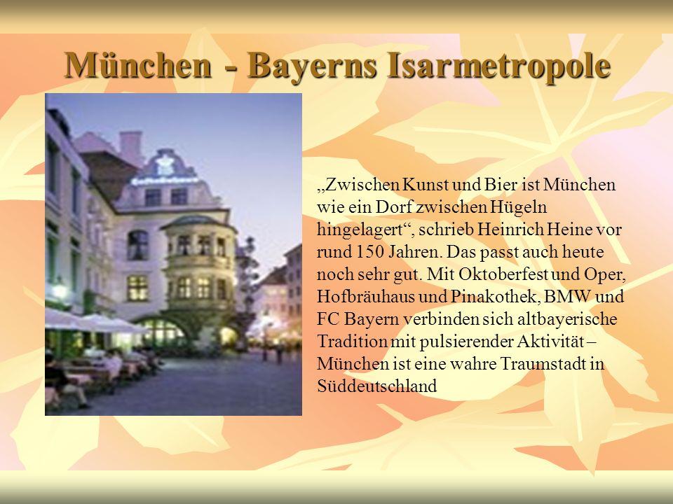 München - Bayerns Isarmetropole