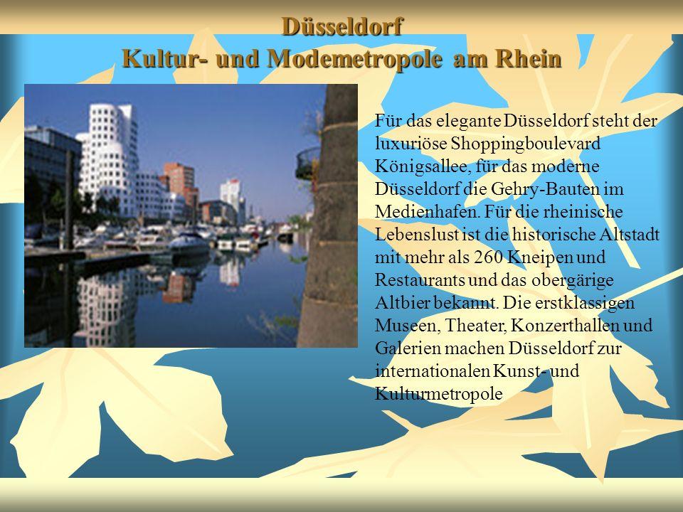 Düsseldorf Kultur- und Modemetropole am Rhein