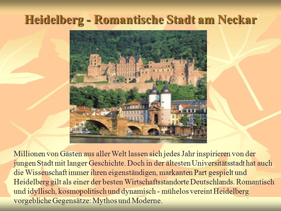 Heidelberg - Romantische Stadt am Neckar
