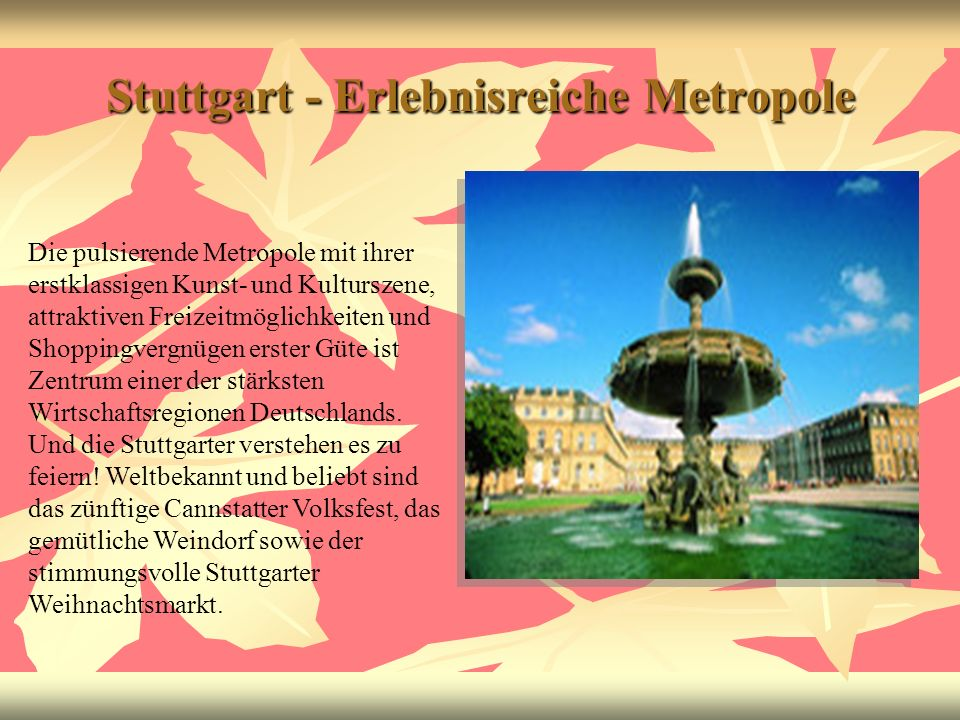 Stuttgart - Erlebnisreiche Metropole