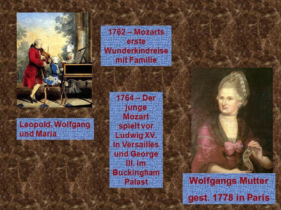 1762 – Mozarts erste Wunderkindreise mit Familie