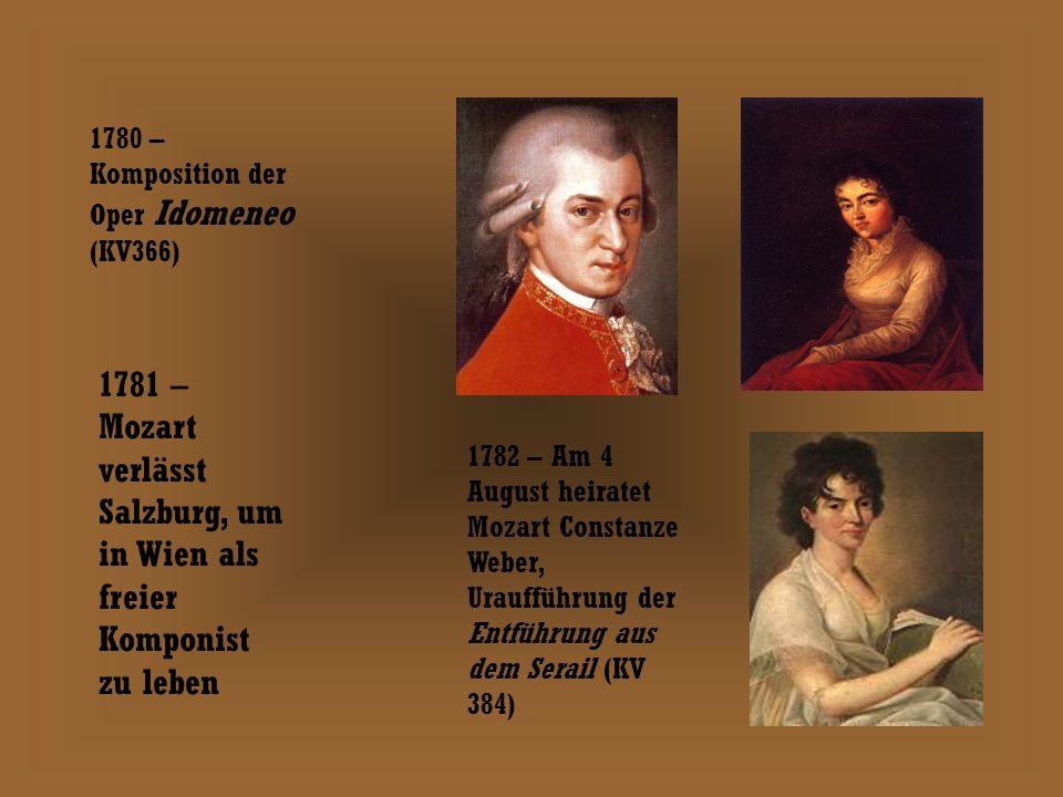 1780 – Komposition der Oper Idomeneo (KV366)