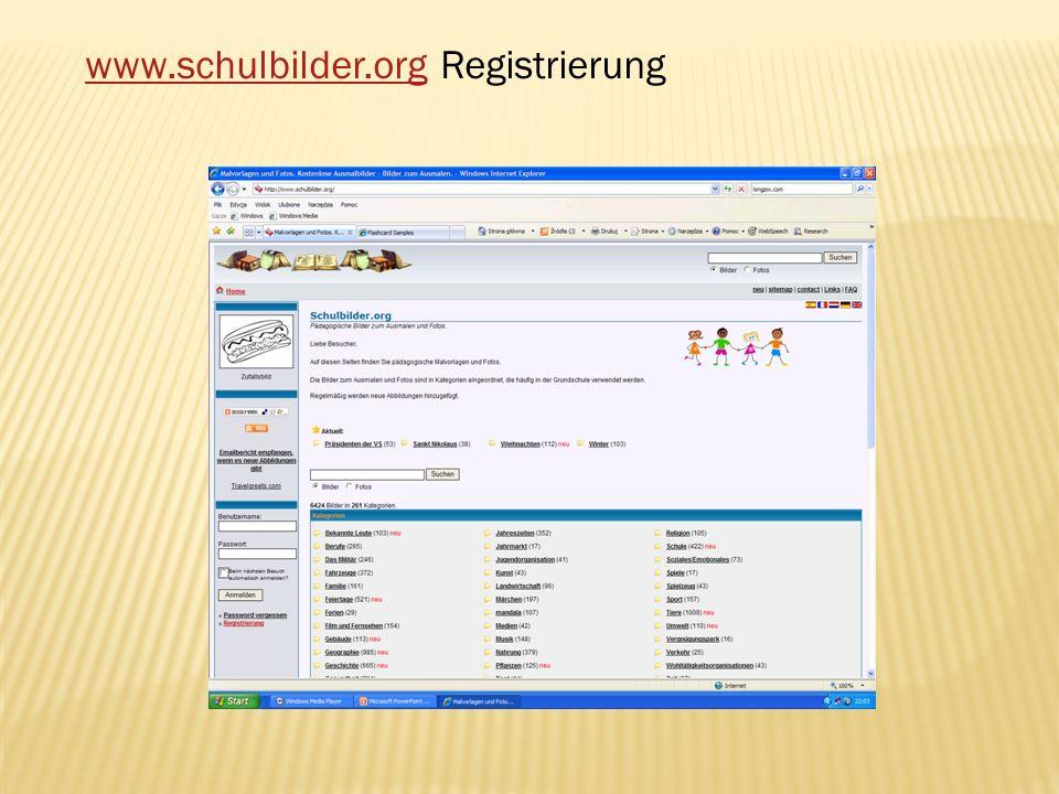 www.schulbilder.org Registrierung