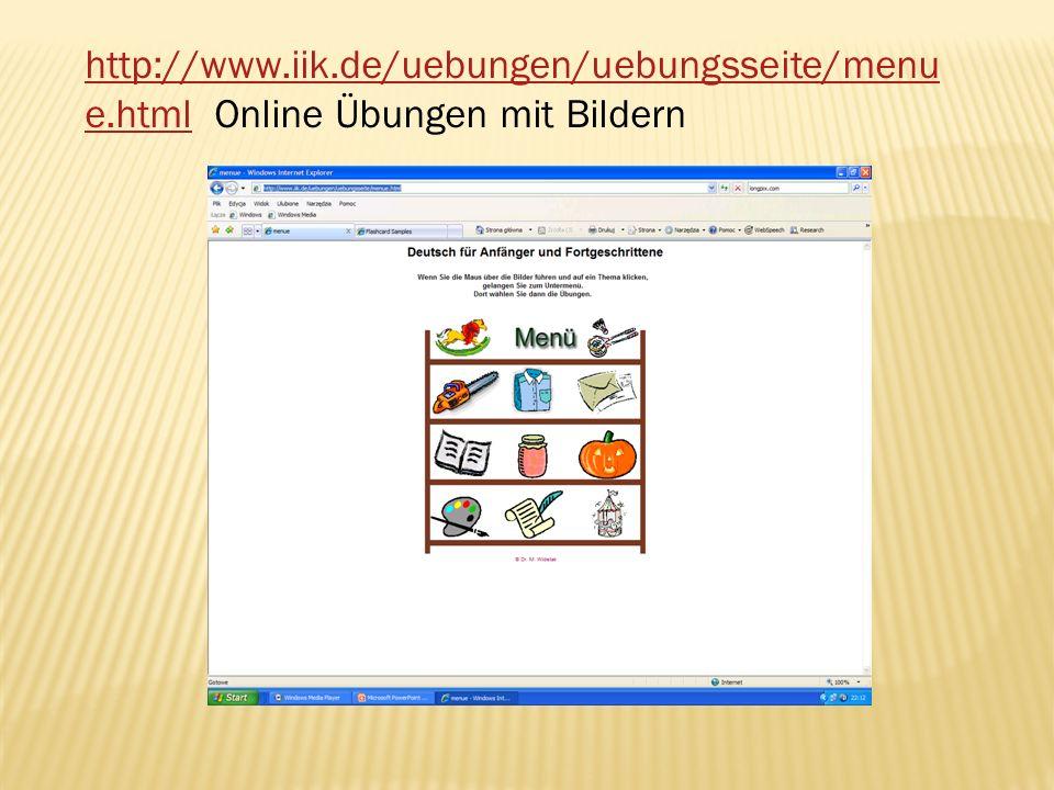 http://www. iik. de/uebungen/uebungsseite/menue
