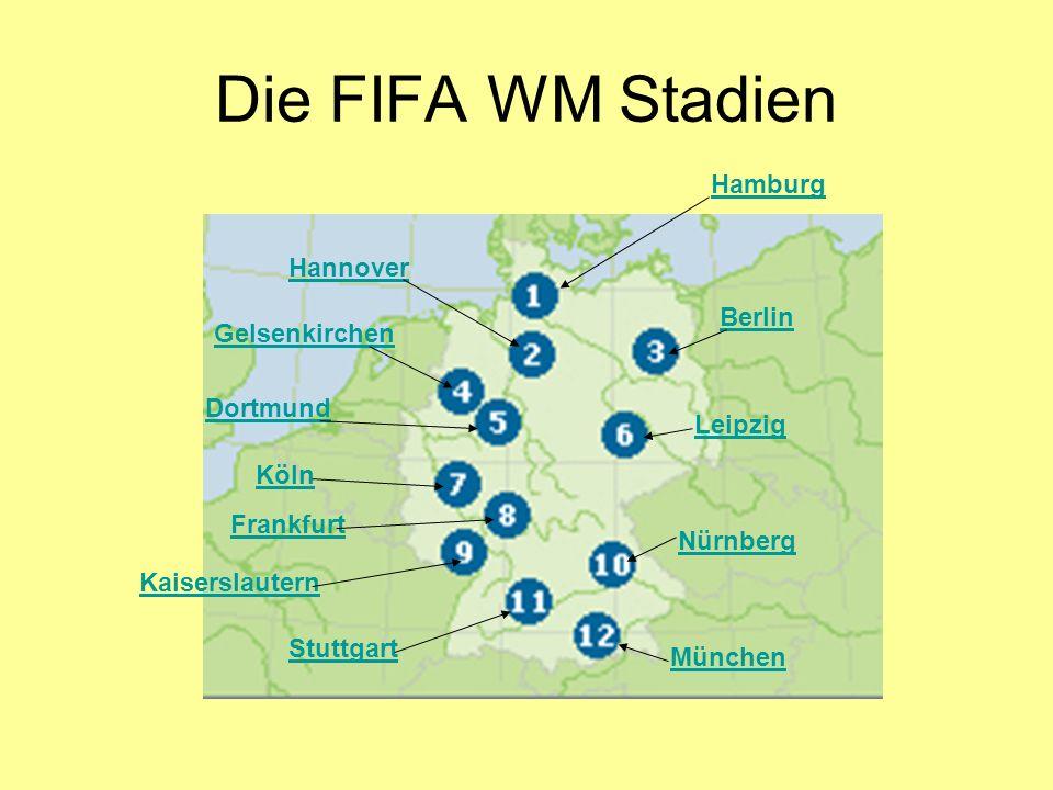 Die FIFA WM Stadien Hamburg Hannover Berlin Gelsenkirchen Dortmund