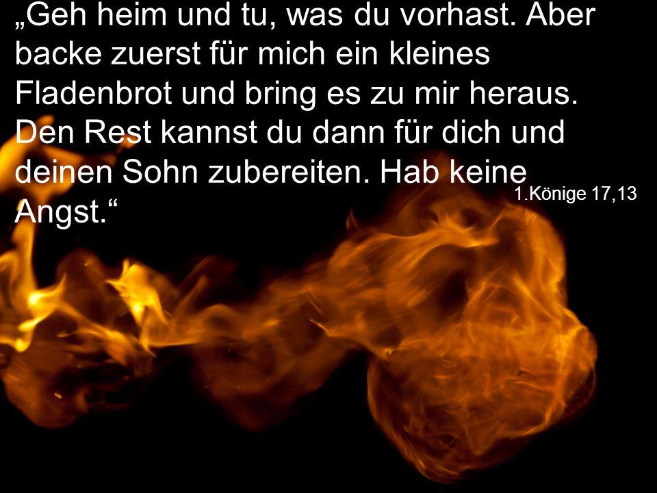 """""""Geh heim und tu, was du vorhast"""