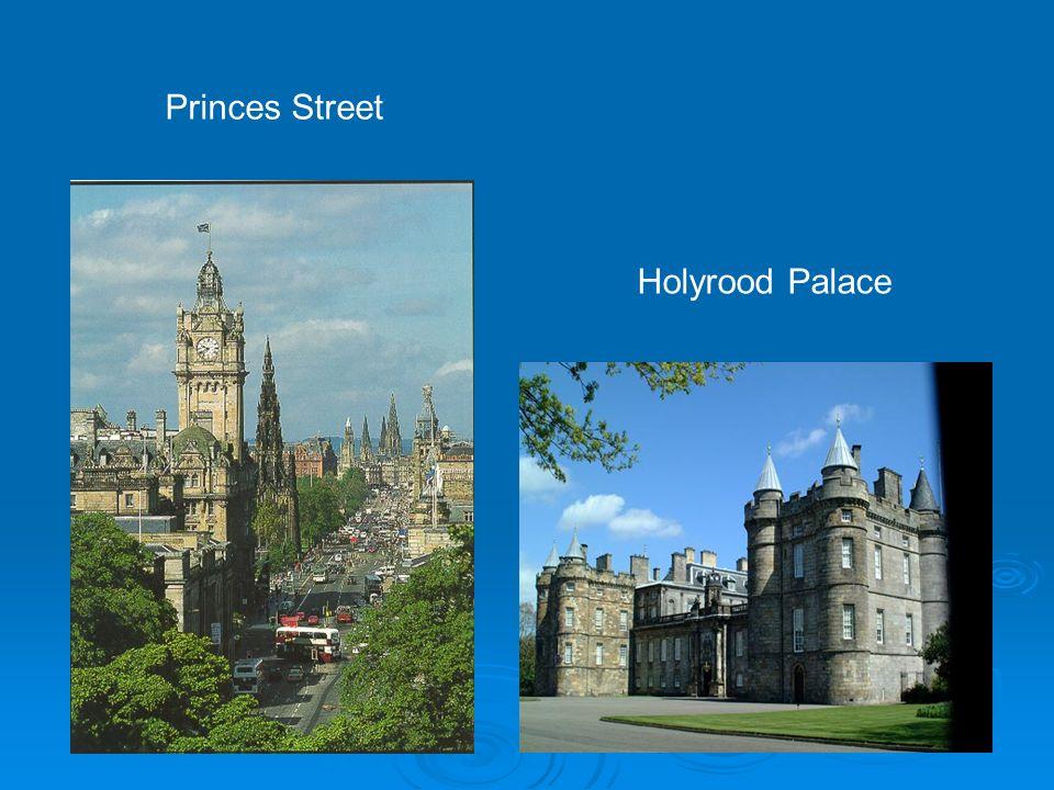 Princes Street Holyrood Palace