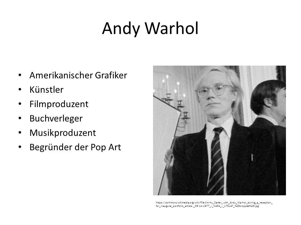 Andy Warhol Amerikanischer Grafiker Künstler Filmproduzent