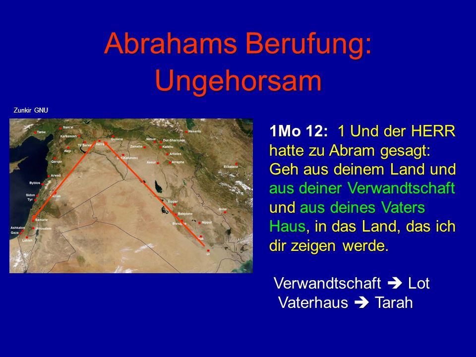 Abrahams Berufung: Ungehorsam