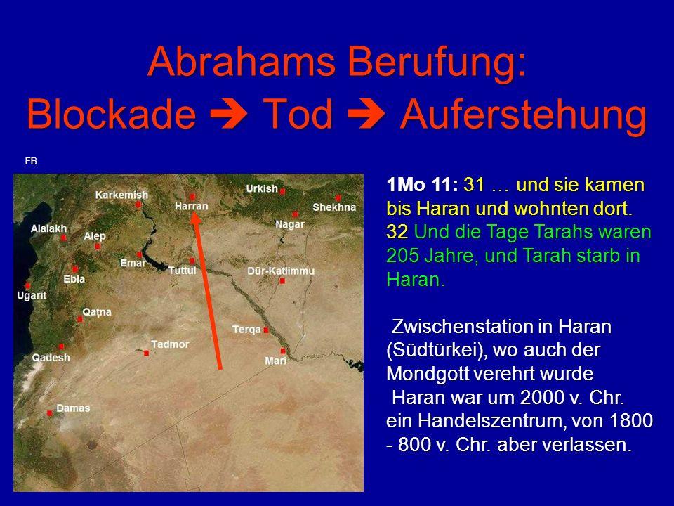 Abrahams Berufung: Blockade  Tod  Auferstehung