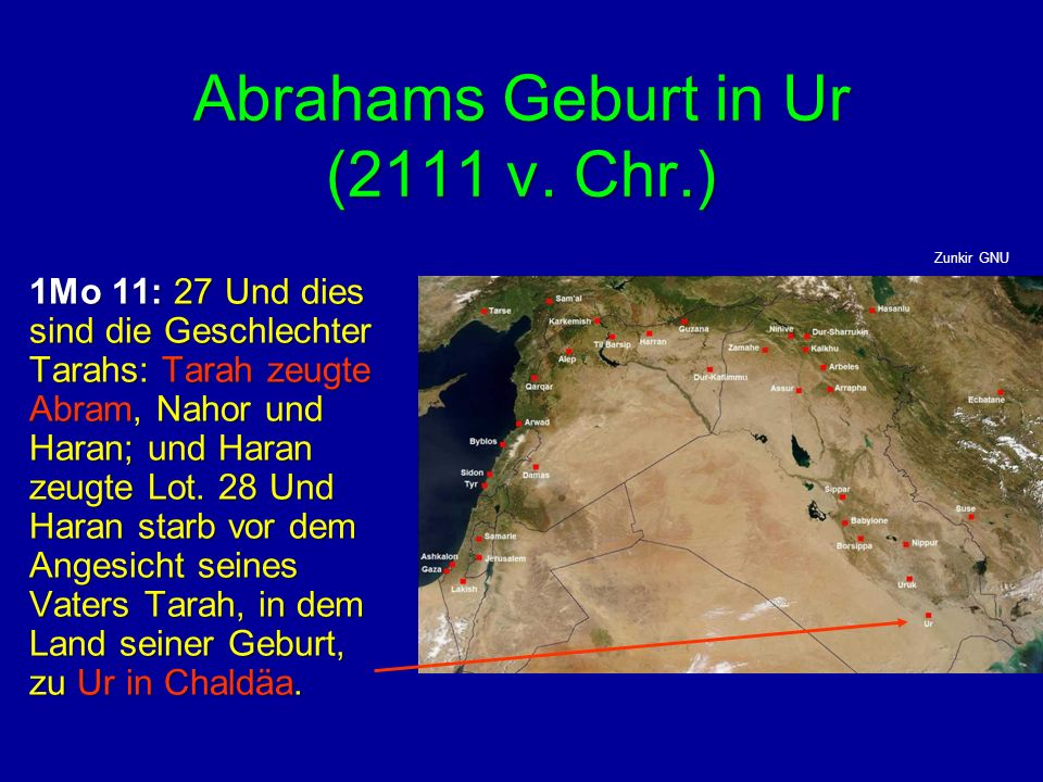 Abrahams Geburt in Ur (2111 v. Chr.)