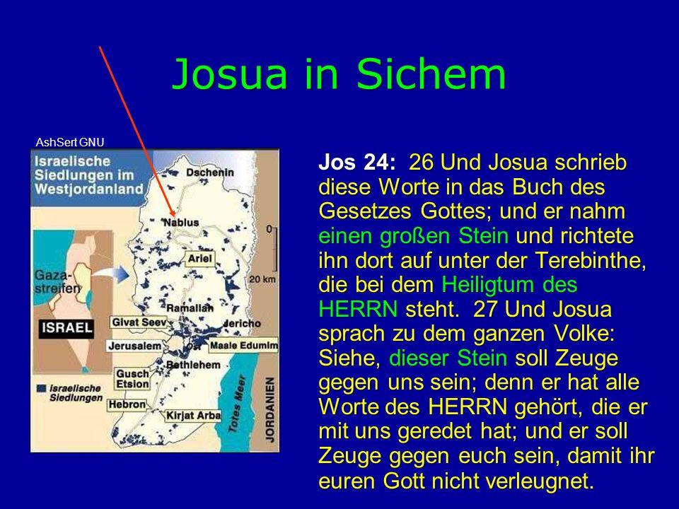 Josua in Sichem AshSert GNU.