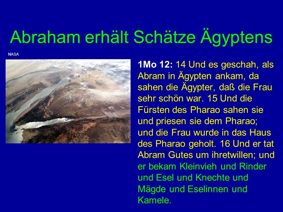 Abraham erhält Schätze Ägyptens