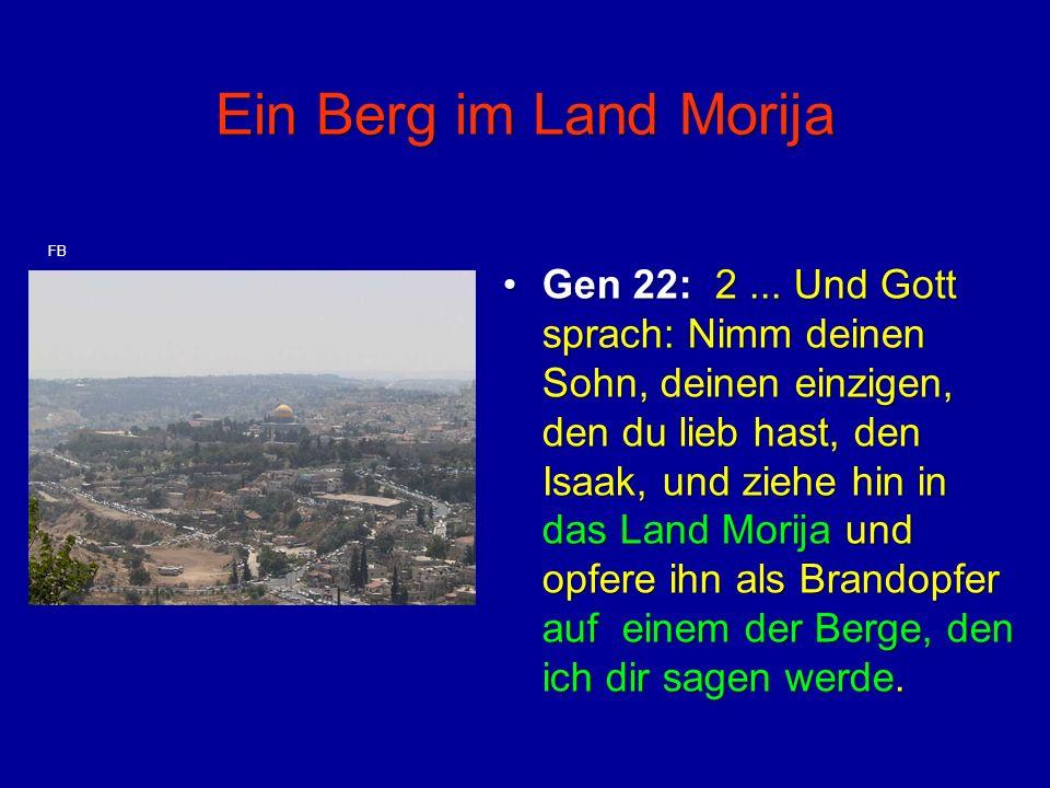 Ein Berg im Land Morija FB.