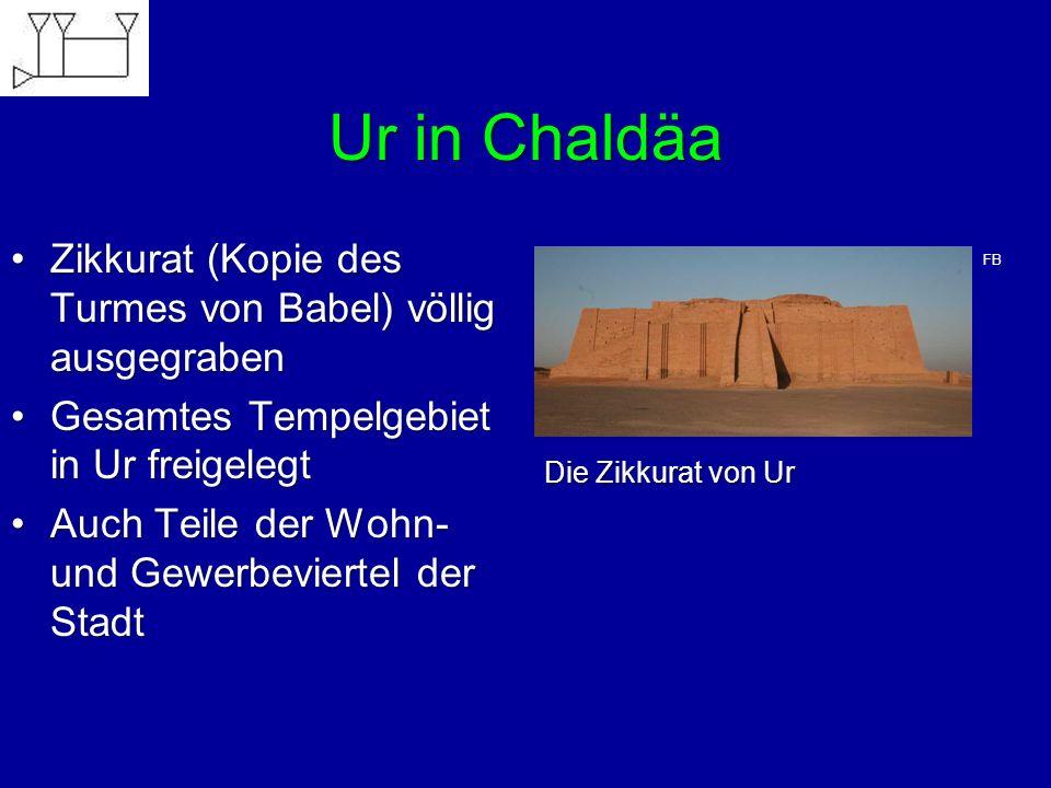 Ur in Chaldäa Zikkurat (Kopie des Turmes von Babel) völlig ausgegraben