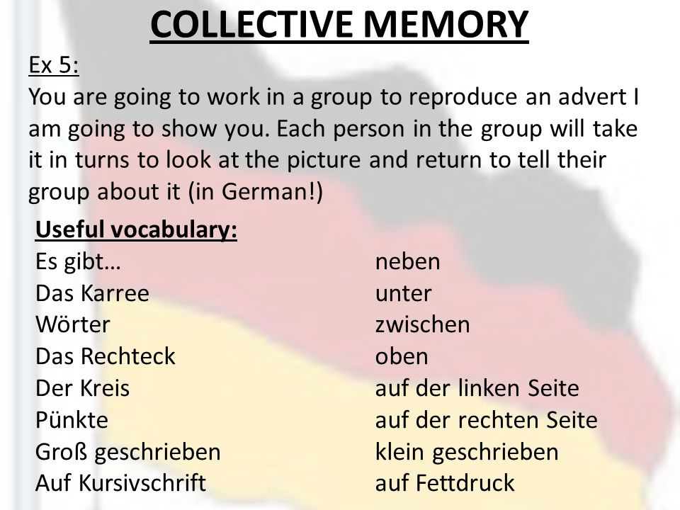 COLLECTIVE MEMORY Ex 5: