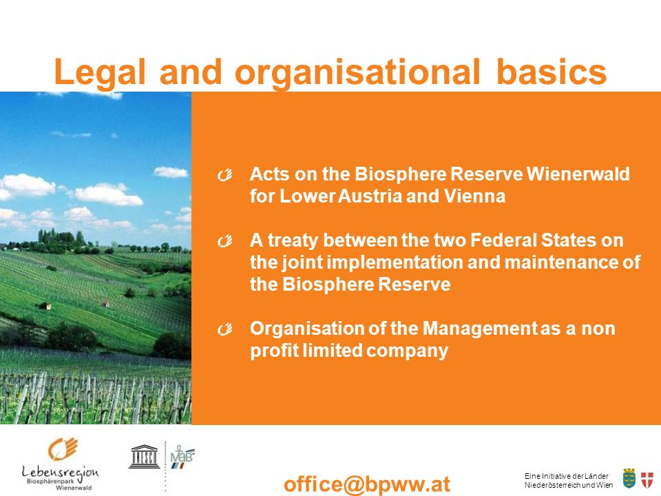 Legal and organisational basics