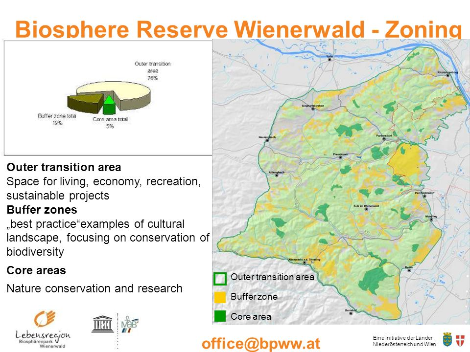 Biosphere Reserve Wienerwald - Zoning