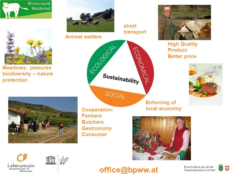 short transport Animal welfare. High Quality Product. Better price. Meadows, pastures biodiversity – nature protection.