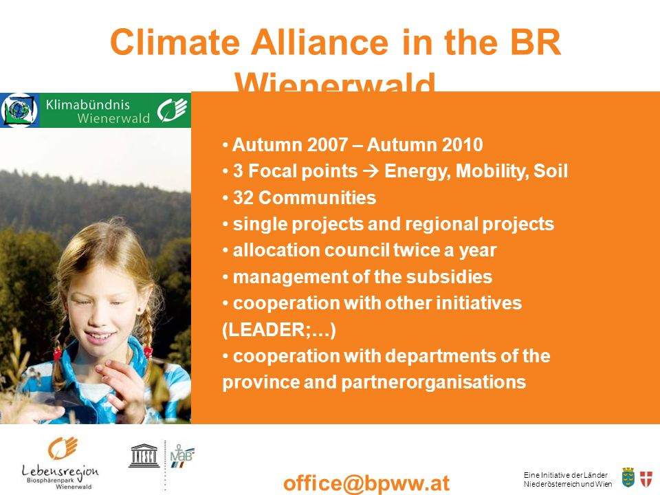 Climate Alliance in the BR Wienerwald