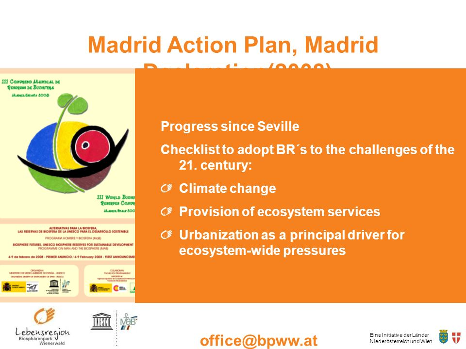 Madrid Action Plan, Madrid Declaration(2008)