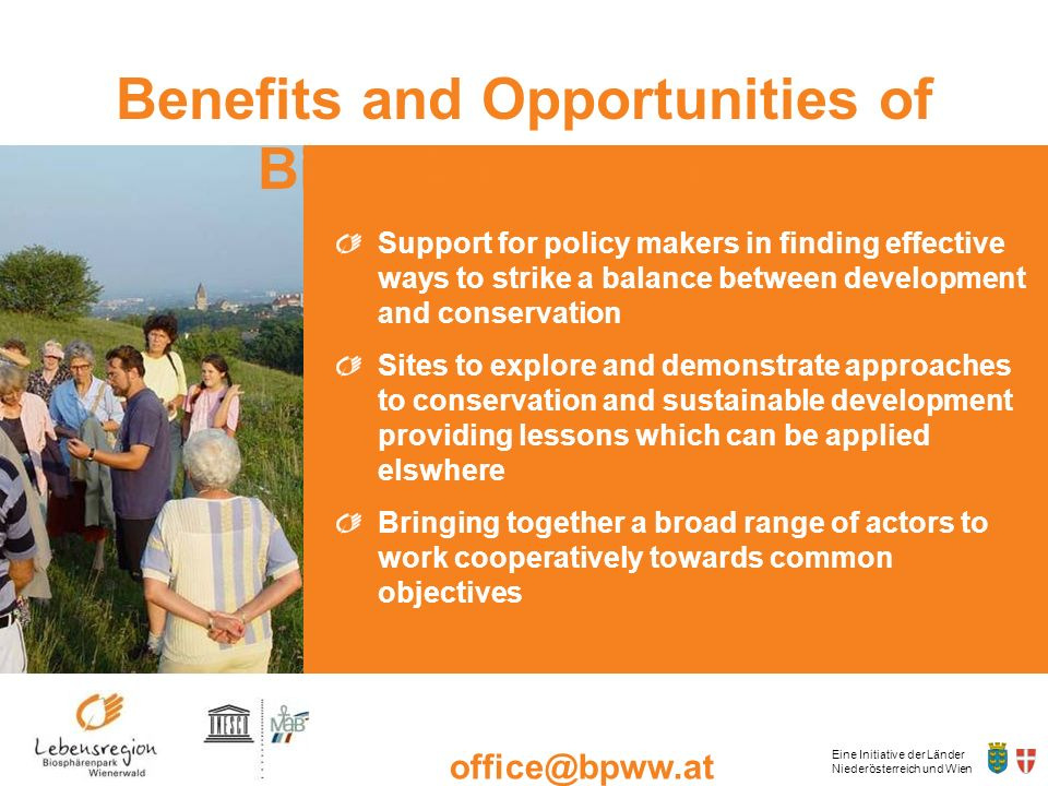 Benefits and Opportunities of Biosphere Reserves