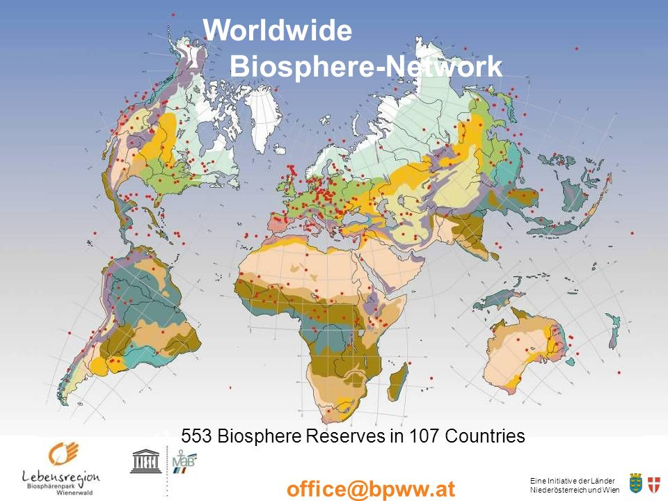 553 Biosphere Reserves in 107 Countries