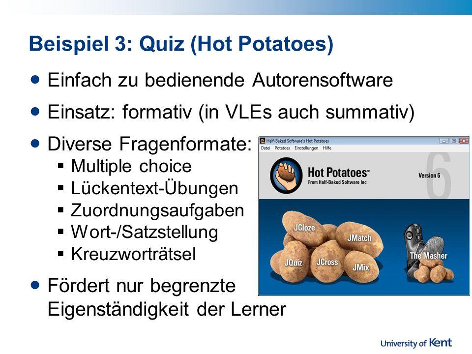 Beispiel 3: Quiz (Hot Potatoes)