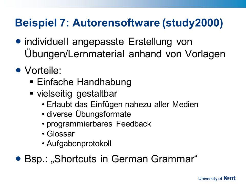 Beispiel 7: Autorensoftware (study2000)