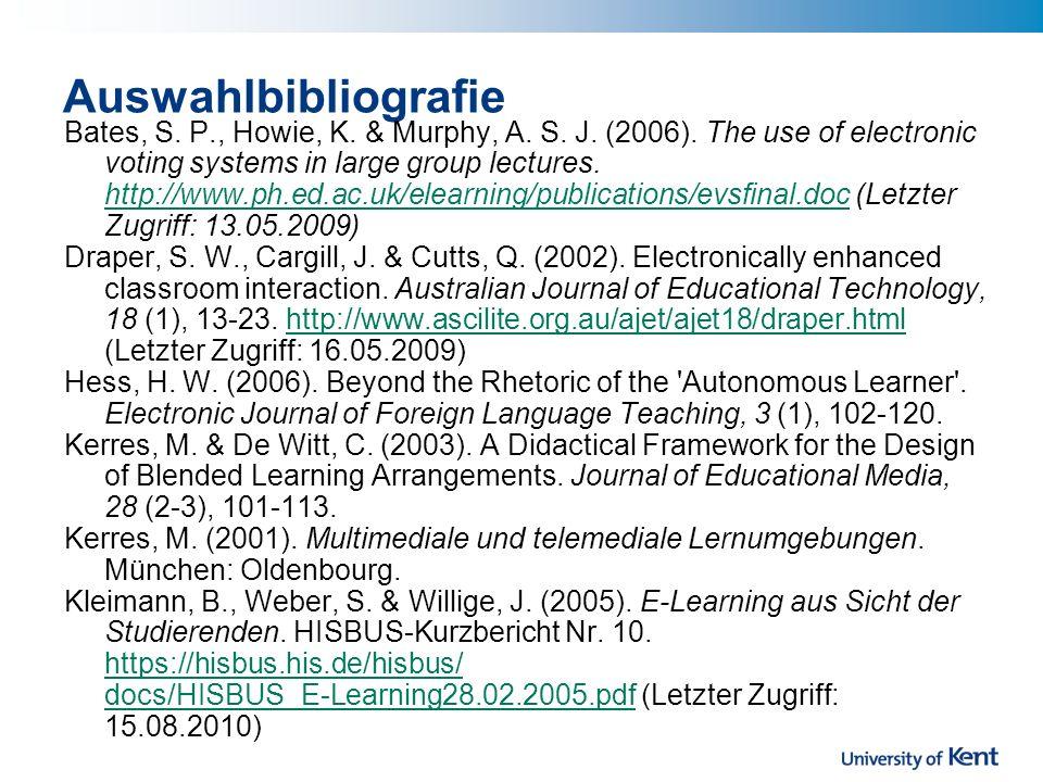 Auswahlbibliografie