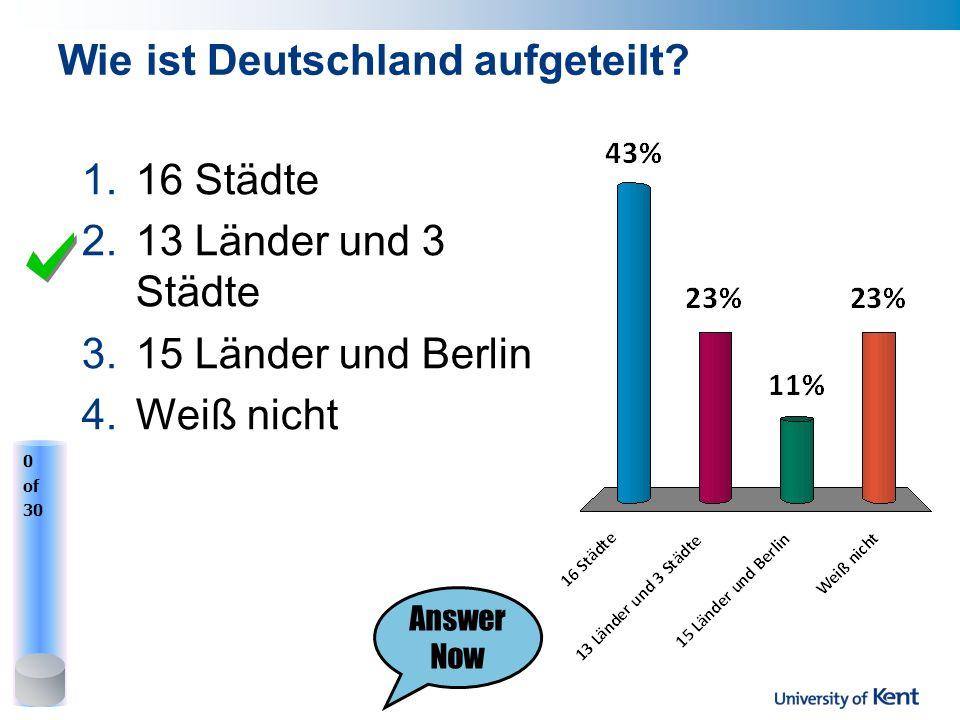 Wie ist Deutschland aufgeteilt