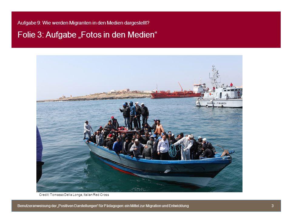 Aufgabe 9: Wie werden Migranten in den Medien dargestellt