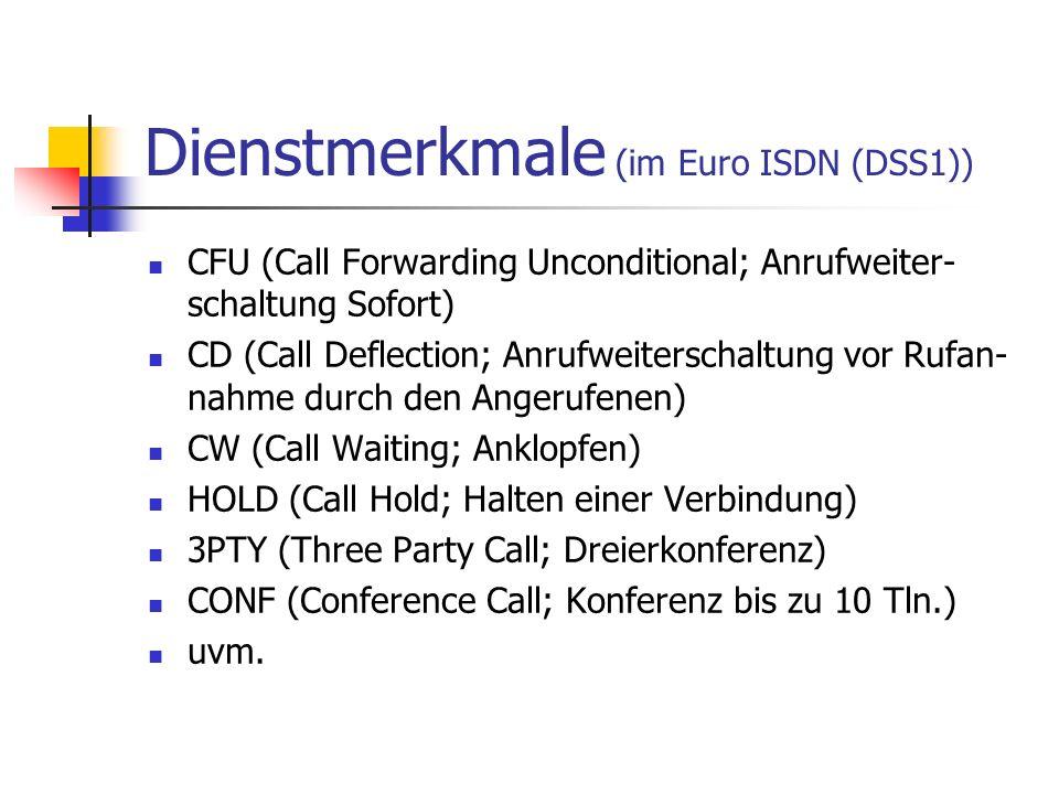 Dienstmerkmale (im Euro ISDN (DSS1))