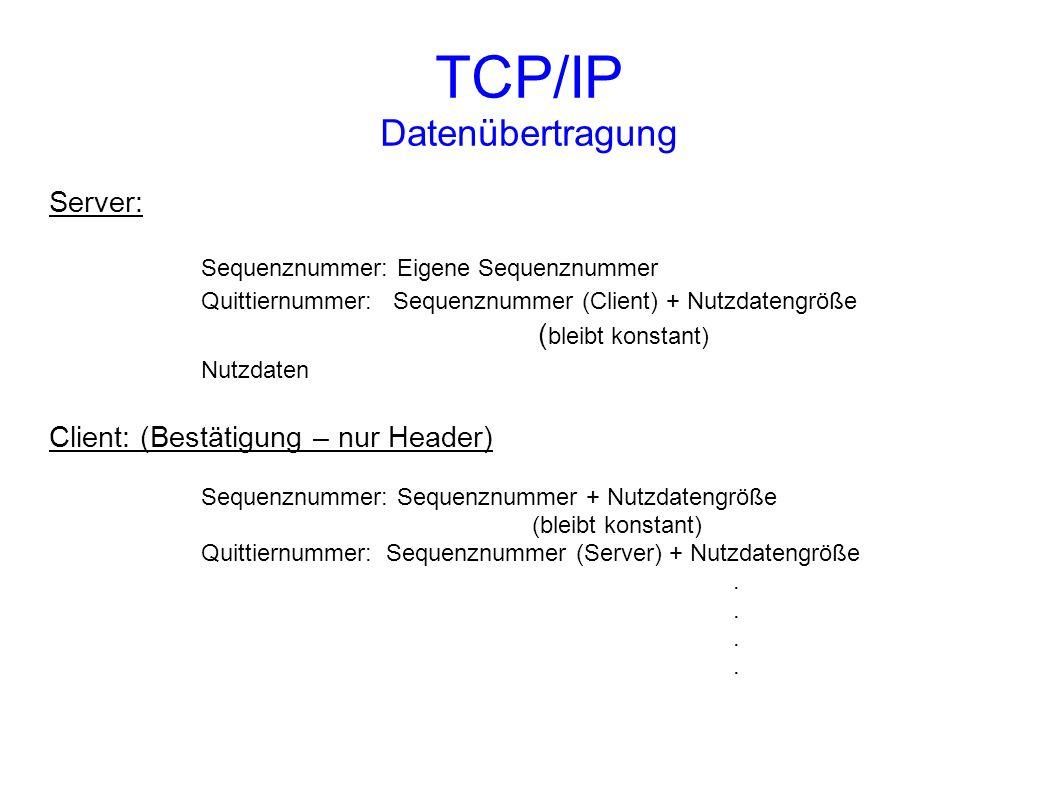 TCP/IP Datenübertragung