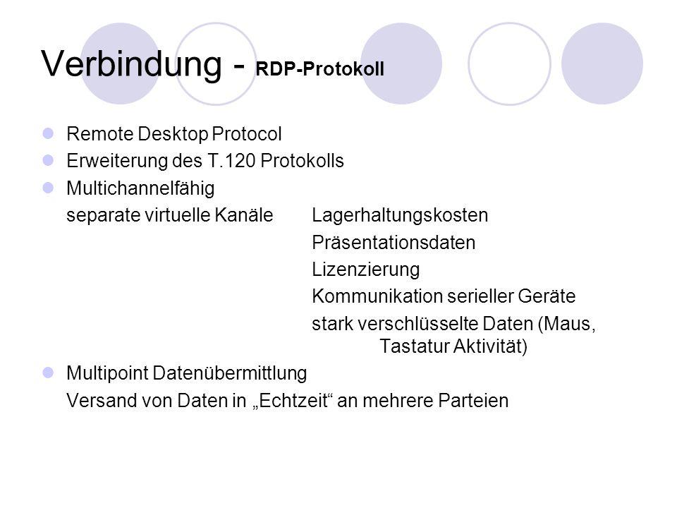 Verbindung - RDP-Protokoll