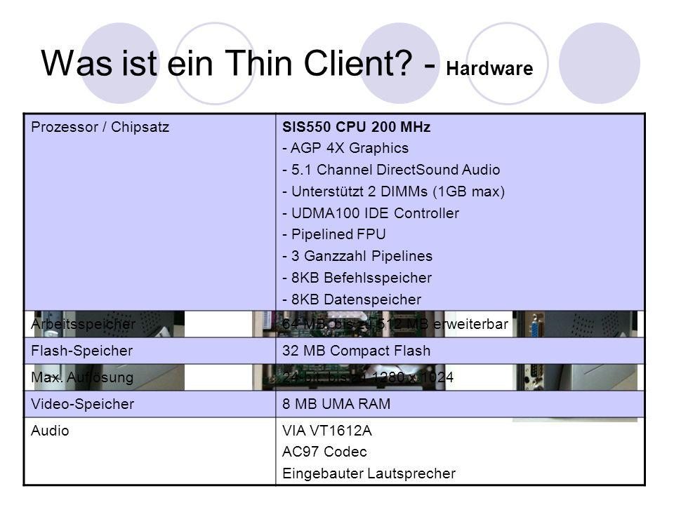 Was ist ein Thin Client - Hardware