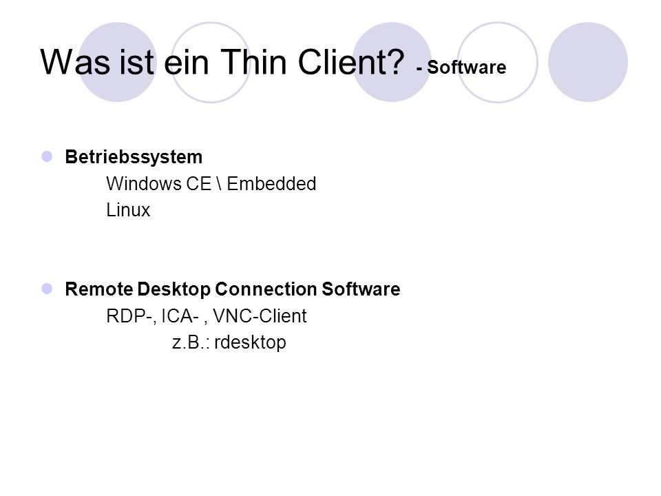 Was ist ein Thin Client - Software