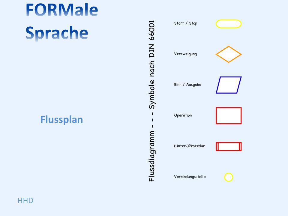 FORMale Sprache Flussplan HHD