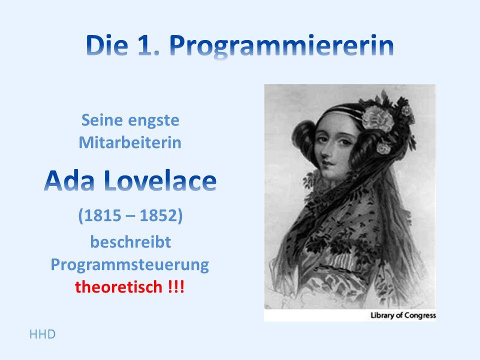 Die 1. Programmiererin Ada Lovelace