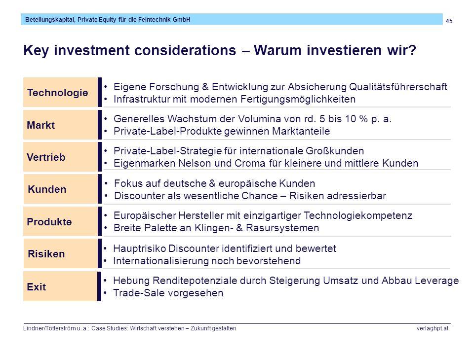 Key investment considerations – Warum investieren wir