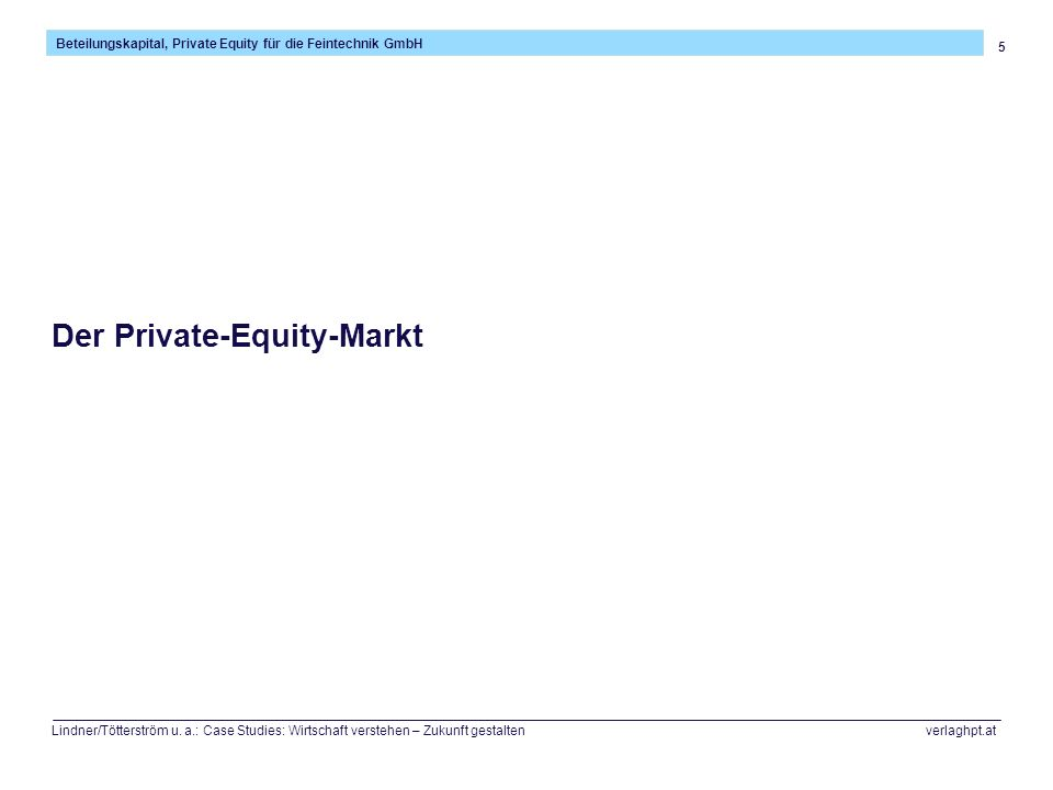 Der Private-Equity-Markt